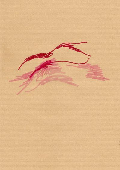 Filzstift auf Packpapier, 21 x 29,7cm